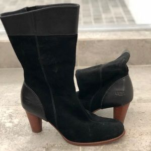 Excellent condition! Black sued and leather boots